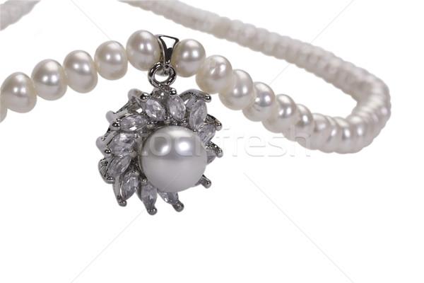 ожерелье моде искусства ювелирные роскошь Сток-фото © imagedb