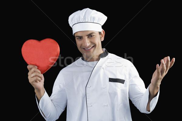портрет повар формы сердца подарок службе Сток-фото © imagedb
