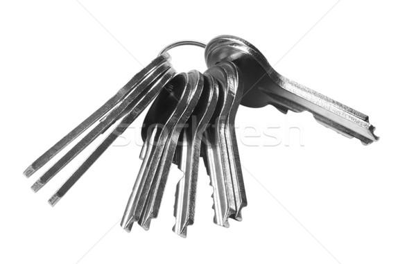 Közelkép köteg kulcsok kulcs biztonság széf Stock fotó © imagedb