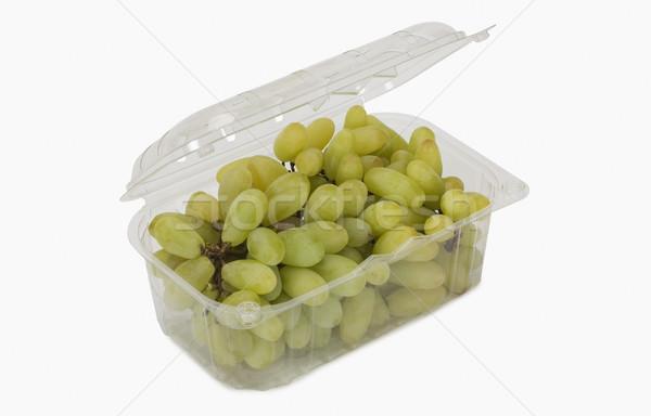 Közelkép szőlő doboz étel műanyag fotózás Stock fotó © imagedb