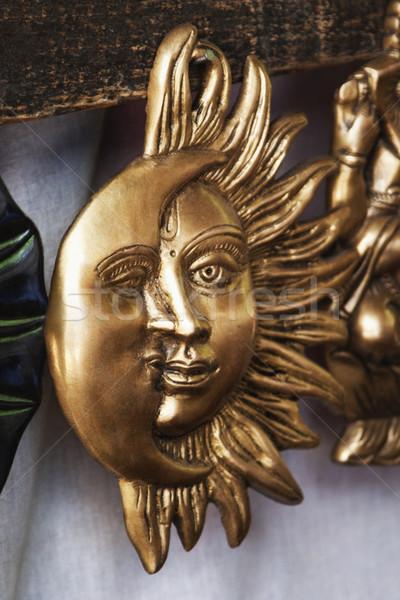 Soleil lune masques marché new delhi Photo stock © imagedb