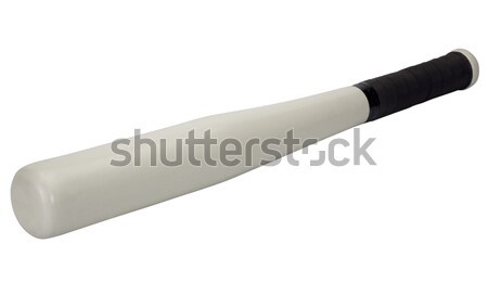 Primer plano bate de béisbol negro blanco bate fotografía Foto stock © imagedb