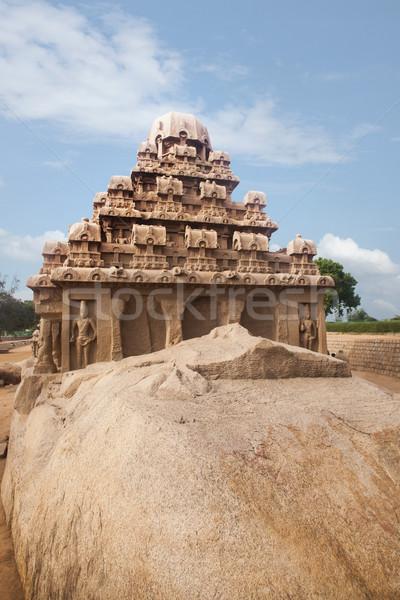 Antigo templo distrito Índia céu pedra Foto stock © imagedb