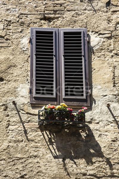 Alulról fotózva kilátás ablak doboz Toszkána Olaszország Stock fotó © imagedb