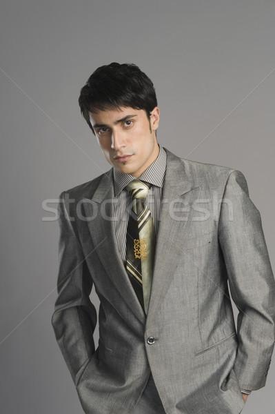 Portré üzletember üzlet férfi fotózás egy Stock fotó © imagedb