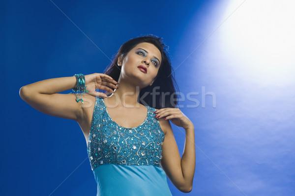 Kadın poz moda elbise güzel Stok fotoğraf © imagedb