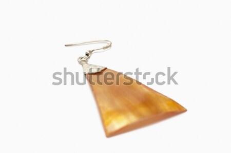 Primo piano orecchino design moderno fotografia orizzontale Foto d'archivio © imagedb