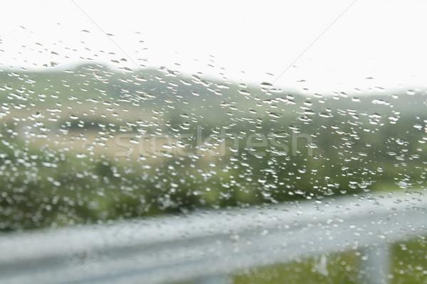 дождь капли лобовое стекло автомобилей Дублин республика Сток-фото © imagedb