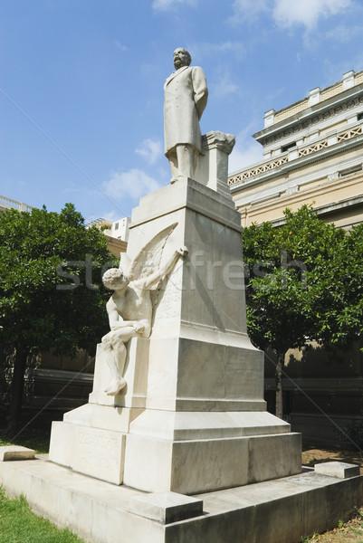 Foto stock: Ver · estátua · velho · parlamento · Atenas
