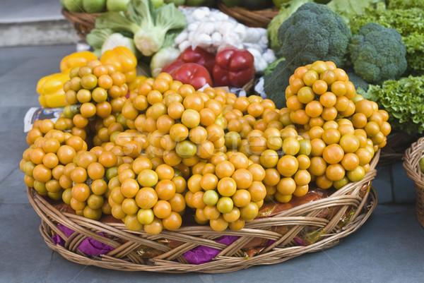 ストックフォト: 果物 · 野菜 · 販売 · 市場 · ニューデリー · インド