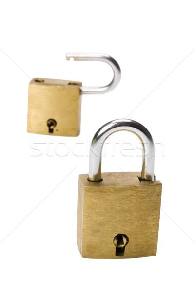 Dois segurança trancar segurança proteção Foto stock © imagedb