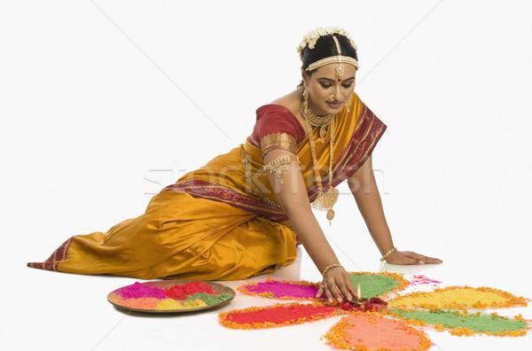юг индийской женщину шаблон ювелирные Сток-фото © imagedb