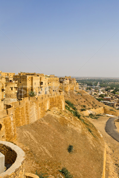 High angle view of Jaisalmer Fort with town in the background, J Stock photo © imagedb