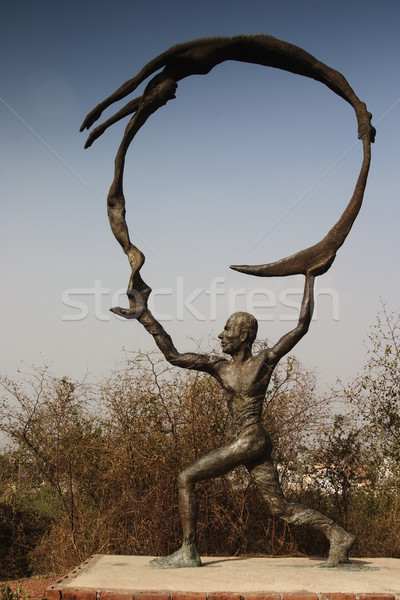 Standbeeld tuin vijf new delhi Indië park Stockfoto © imagedb