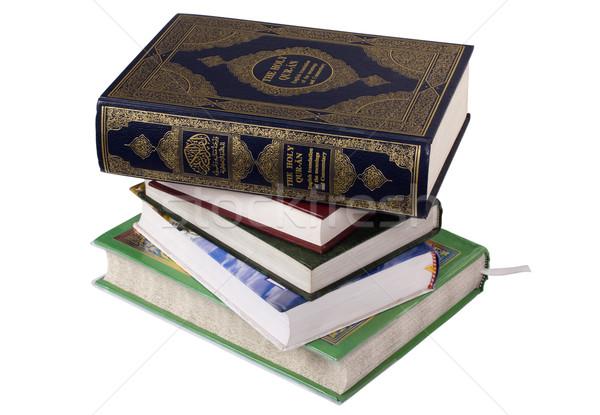 Boglya vallásos könyvek fekete vallás iszlám Stock fotó © imagedb