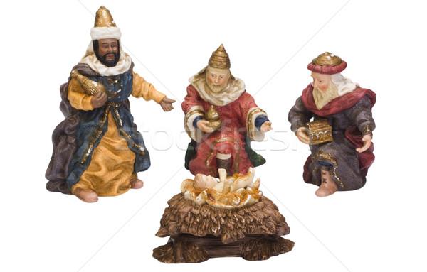 Baba Jézus Biblia ajándék szobor antik Stock fotó © imagedb