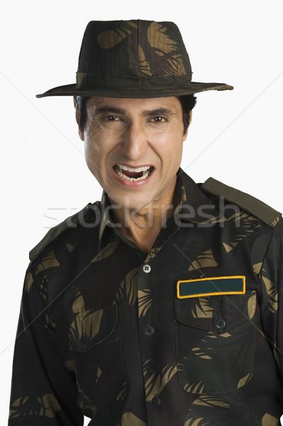 портрет армии солдата человека взрослый Сток-фото © imagedb