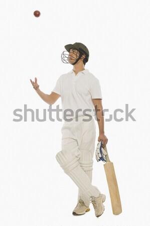 портрет крикет игрок человека спорт улыбаясь Сток-фото © imagedb