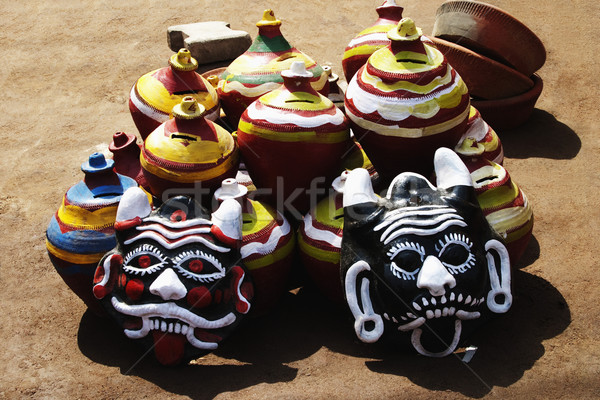 Dekoratif pazar Delhi Hindistan sanat grup Stok fotoğraf © imagedb