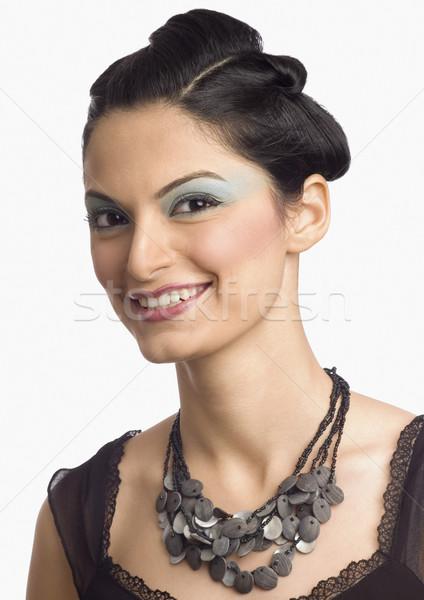 Portré női divat modell pózol nő Stock fotó © imagedb