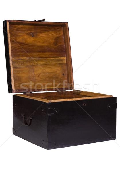 Açmak ahşap ahşap güvenlik kutu Stok fotoğraf © imagedb