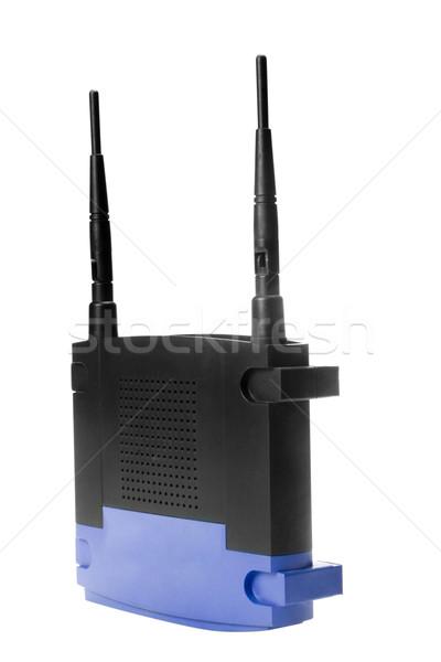Közelkép drótnélküli modem technológia antenna kapcsolat Stock fotó © imagedb