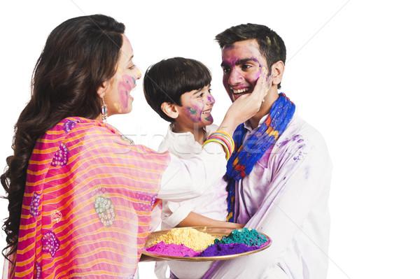Famiglia festival bambino madre divertimento Foto d'archivio © imagedb