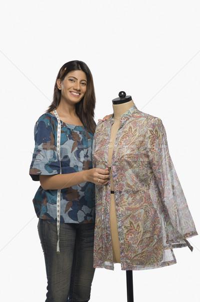 Homme mode designer robe mannequin souriant Photo stock © imagedb