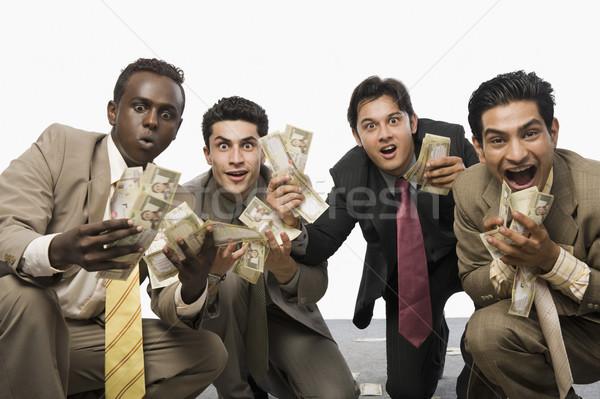 肖像 4 ビジネスマン 通貨 ストックフォト © imagedb
