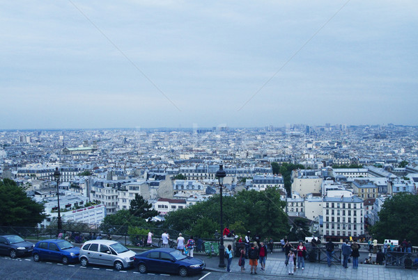 Cityscape Париж Франция небе автомобилей группа Сток-фото © imagedb