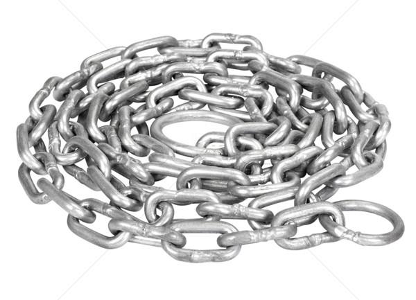 Kıvrılmış Metal zincir güç çelik Stok fotoğraf © imagedb