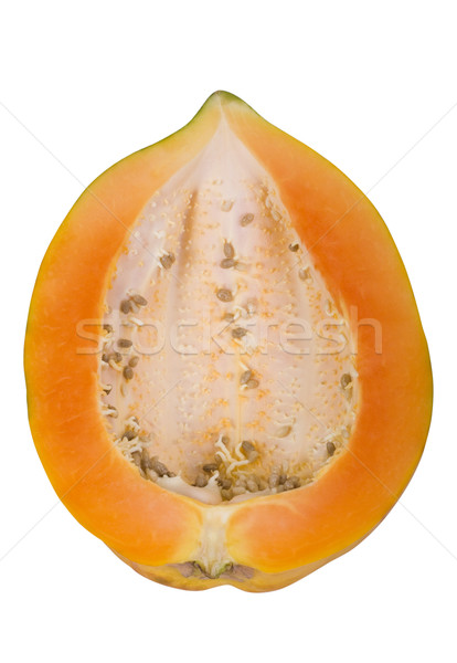Primer plano mitad frutas fondo blanco orgánico frescura Foto stock © imagedb