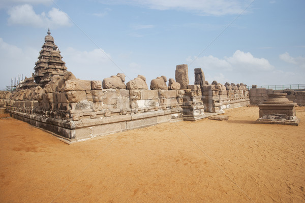Oude wal tempel wijk Indië steen Stockfoto © imagedb