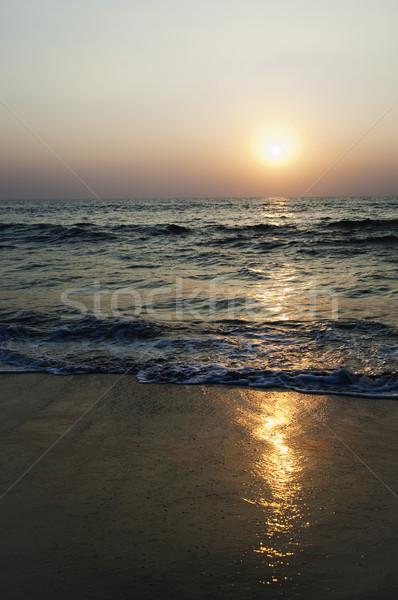Naplemente tengerpart Goa India víz tenger Stock fotó © imagedb