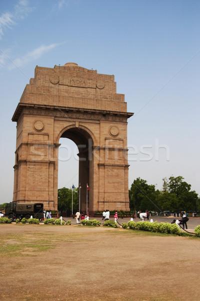 Wojny miasta Indie bramy Delhi drzewo Zdjęcia stock © imagedb