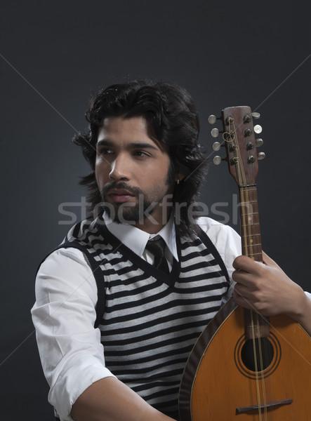 Músico pensando sessão 20s vertical Foto stock © imagedb