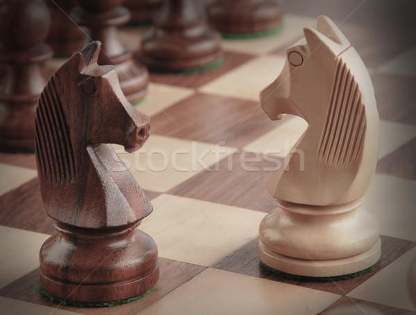 向い その他 チェスボード グループ 楽しい 騎士 ストックフォト © imagedb