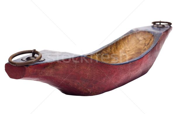 лодка древесины красный кольца Сток-фото © imagedb
