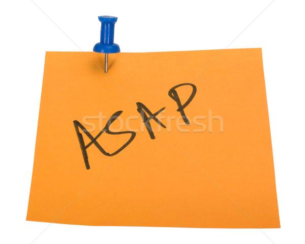 Szó írott tapadó jegyzet üzlet papír Stock fotó © imagedb