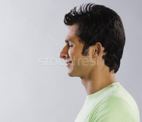 человека день зеленый футболку Сток-фото © imagedb