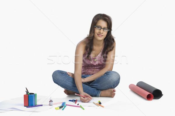женщины моде дизайнера пер искусства рабочих Сток-фото © imagedb