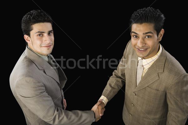 表示 2 ビジネスマン 握手 ビジネス ストックフォト © imagedb