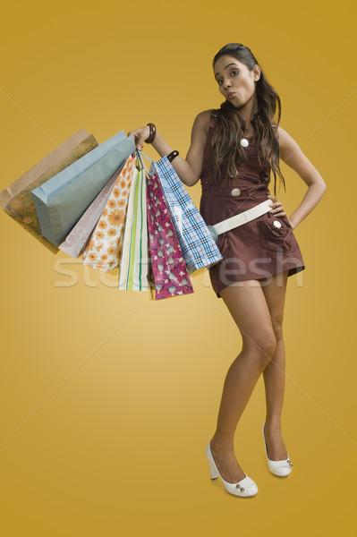 Mulher jovem cliente varejo Foto stock © imagedb