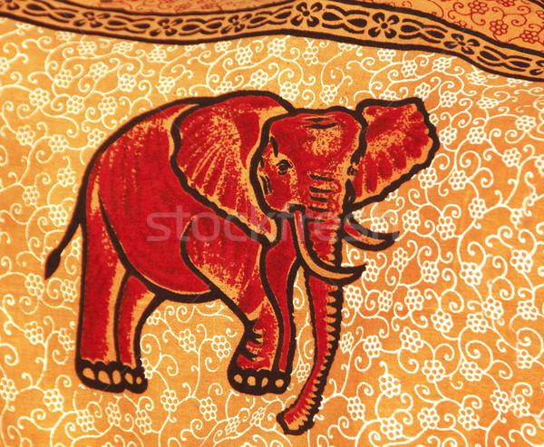Сток-фото: Слоны · Живопись · текстильной · Гоа · Индия