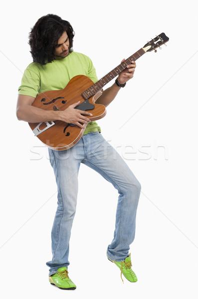 Сток-фото: человека · играет · гитаре · музыку · моде