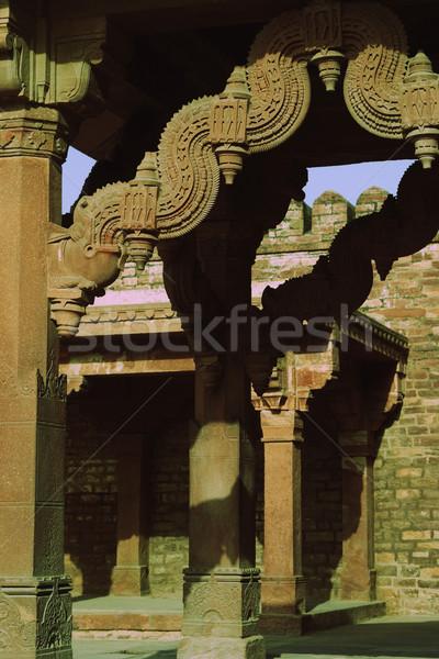 Dettaglio architettonico palazzo architettura pattern antica India Foto d'archivio © imagedb