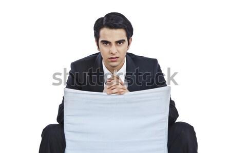 бизнесмен сидят Председатель мышления человека молодые Сток-фото © imagedb