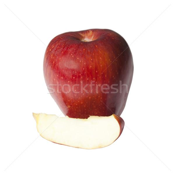 Kırmızı elma dilim elma meyve fotoğrafçılık Stok fotoğraf © imagedb