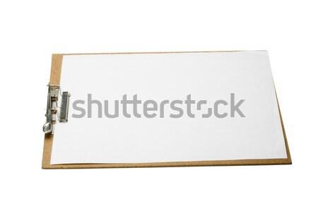 Közelkép vágólap oktatás ír fehér együtt Stock fotó © imagedb