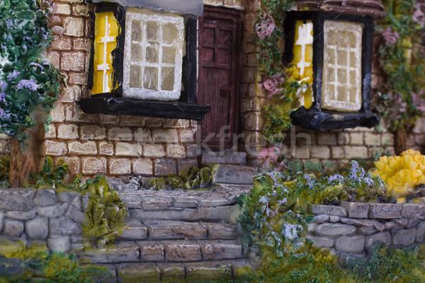 Közelkép modell otthon ajtó modern dekoráció Stock fotó © imagedb
